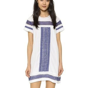 Moon River white and blue dress S